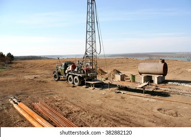 Drilling for geothermal power system in suburban yard