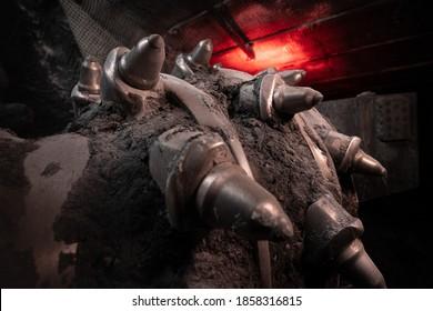 Drilling machine in coal mine