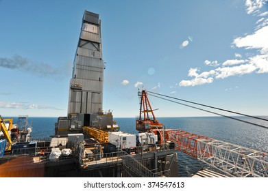 Drilling module of the sea oil production platform, Sakhalin, Russia