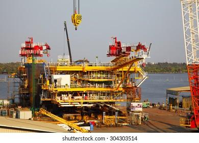 Drilling Platform under Construction