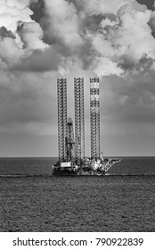 Drilling Rig in Black and White