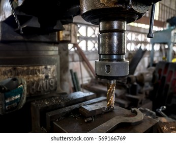 Drilling in steel and engineering industries.