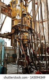 Drilling tower inside with crab for drilling well