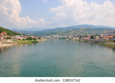 Drina river from the bridge in Visegrad