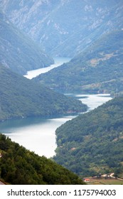 Drina river canyon landscape Tara mountain Serbia