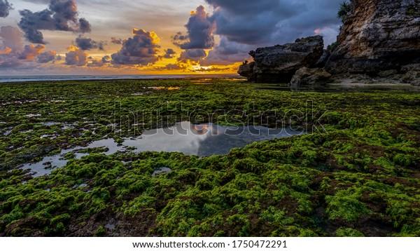 Drini beach landscape photography during sunset