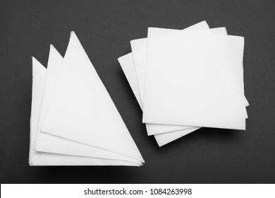 Drink bar serviette paper napkin mockup.