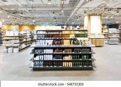 drink bottle on shelf in shop