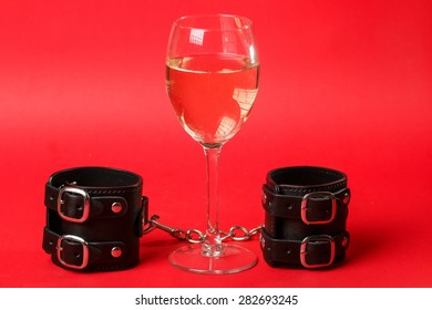 Drink and handcuffs