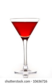 drink series: red cocktail over white background