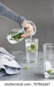 Drink Water (peppermint water, dehydration)