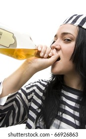 Drinking Detainee Lifts Her Spirits While Doing Time And A Bottle Of Scotch