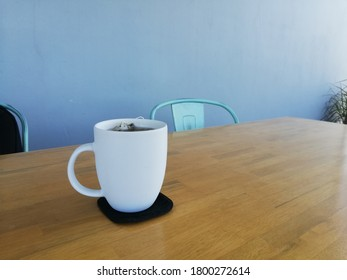 Drinking glass on the table
