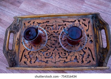 Drinking turkish tea after the long work day - Shutterstock ID 754316434