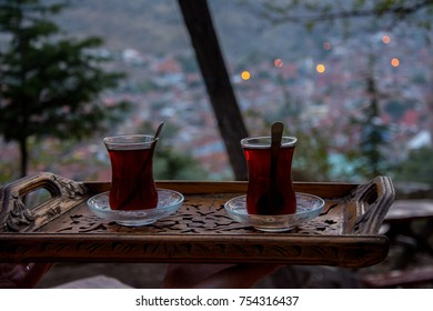 Drinking turkish tea after the long work day - Shutterstock ID 754316437