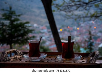 Drinking turkish tea after the long work day - Shutterstock ID 754381570