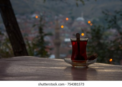 Drinking turkish tea after the long work day - Shutterstock ID 754381573