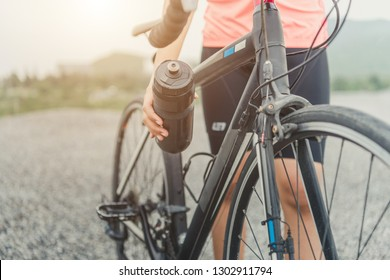 Drinking water bottle holding with bicycle