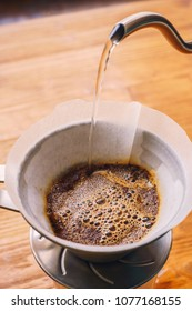 Drip brewing filtered coffee