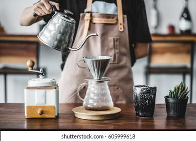 drip coffee brewing