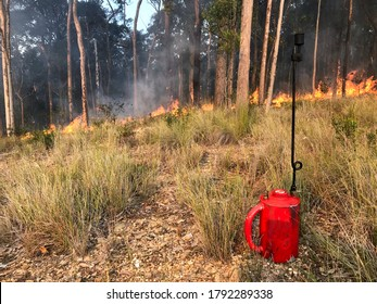 Drip Torch and Fire Line