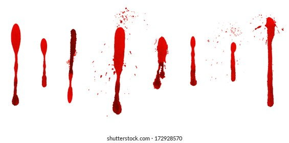 Dripping blood stains