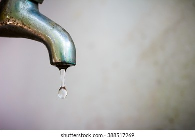 Dripping Faucet. In Water Du0027times Of Crisis It Is Important To Save Missing