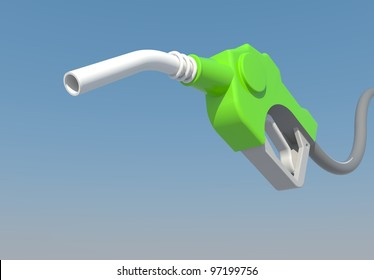 dripping gas pump nozzle to created by three dimension program