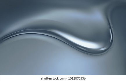 dripping metal silver close-up as abstract background