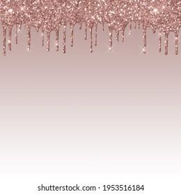 Dripping Rose Gold  Glitter Digital Paper