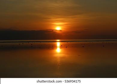 Dripping sunset