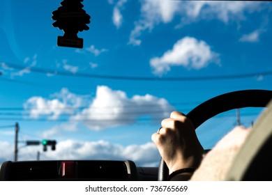 Drive a car.