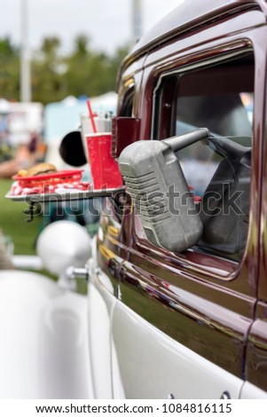 Drive Movie Theater Speaker Hanging Window Stock Photo Edit Now