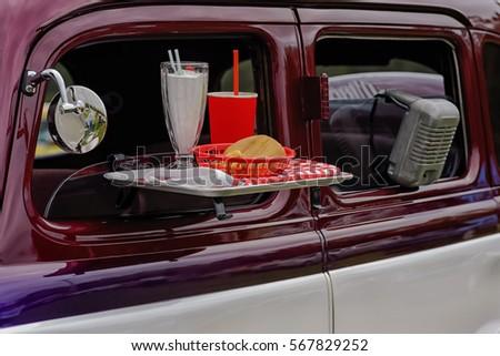 Drive Movie Theater Waitress Service Stock Photo Edit Now
