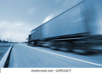 Drive on road, transportation logistic concept