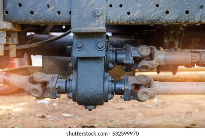 Drive shaft metal steel  transmission for rotating applications in truck.