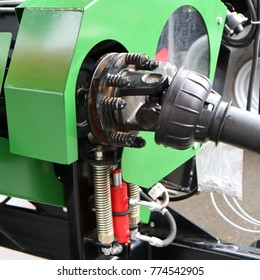 Drive shaft with universal joint. Agricultural machine.