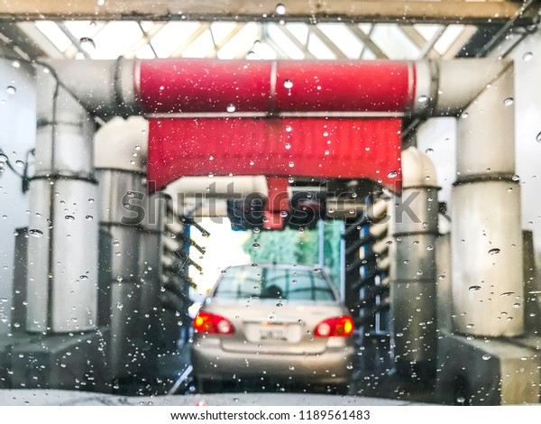 Drive Through Automatic Car Wash Machine Stock Photo Edit Now