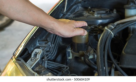 Driver checking the car before used or buy and sell,machanic service