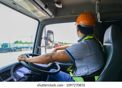 The driver is checking the vehicle before traveling to customer site
