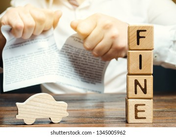 The driver contesting the illegal fines and taxes. Unfair tariffs and penalties. Proof of innocence and exemption from payment. Categorical disagreement with traffic violation charges. Wooden blocks