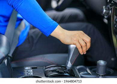 Driver driving car change the shifter