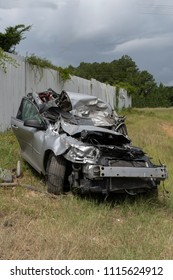 Driver lost control of car at high speed & ended his life in a head  collision