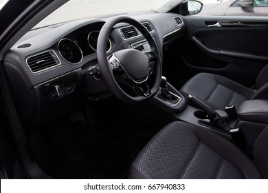 Driver's seat of the car.interior car
