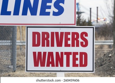 """""""Drivers Wanted"""" near Port of New York / New Jersey, USA, 03.20.2014"""