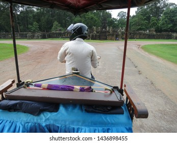 DRIVER/SIEM REAP/CAMBODIA-MAY 2016: Man is driving the tuc tuc in Cambodia