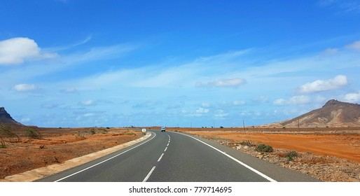 Driving across Boa Vista, Cape Verde