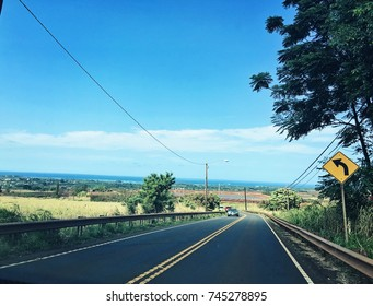 Driving back roads on Oahu, Hawaii
