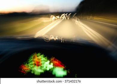Driving car dangerously at night due to drinking, speeding or being tired