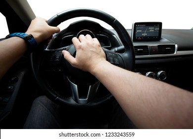 Driving the car, honking